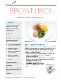 Brown Rice Handout