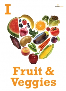I Heart Fruits and Veggies Poster