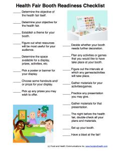 how to plan a health fair