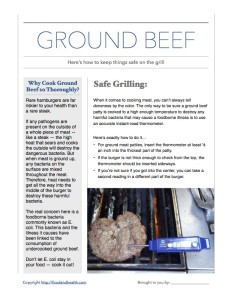 Grill Ground Beef