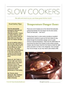 Slow Cooker Safety
