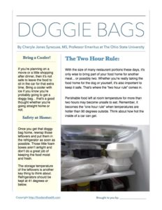DoggieBagFoodSafety