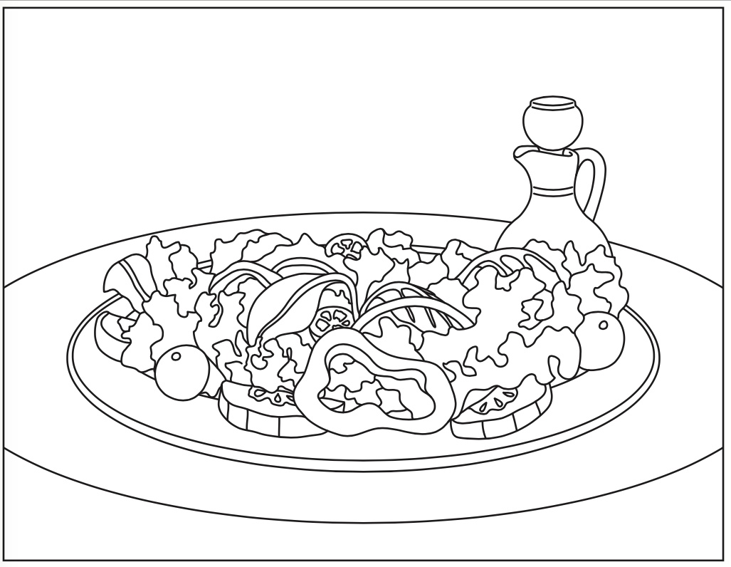salad coloring pages - photo#18
