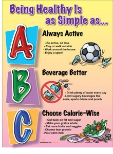 Being Healthy Is As Simple As ABC Poster