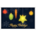 Holiday Fruit Lights Cards
