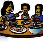 Family meal clipart