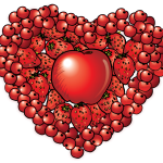 Fruit heart clipart