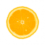 Clipart of orange slice