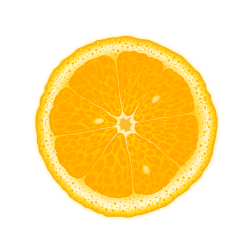 Clipart of orange slice