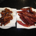 Cook comparison pork vs. turkey bacon