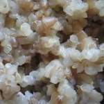 close-up cooked quinoa