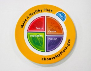 Actual MyPlate Plate