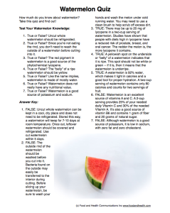 Watermelon Handout