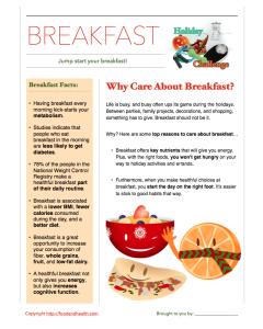 Jump Start Breakfast