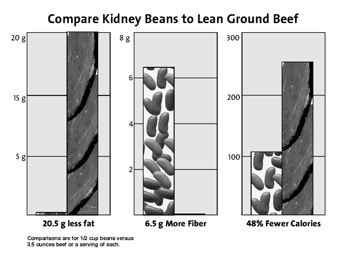 Bean and Beef Comparison