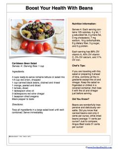 Bean Recipe Handout
