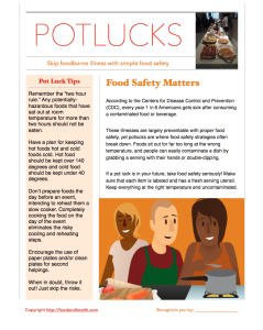Pot Luck Food Safety