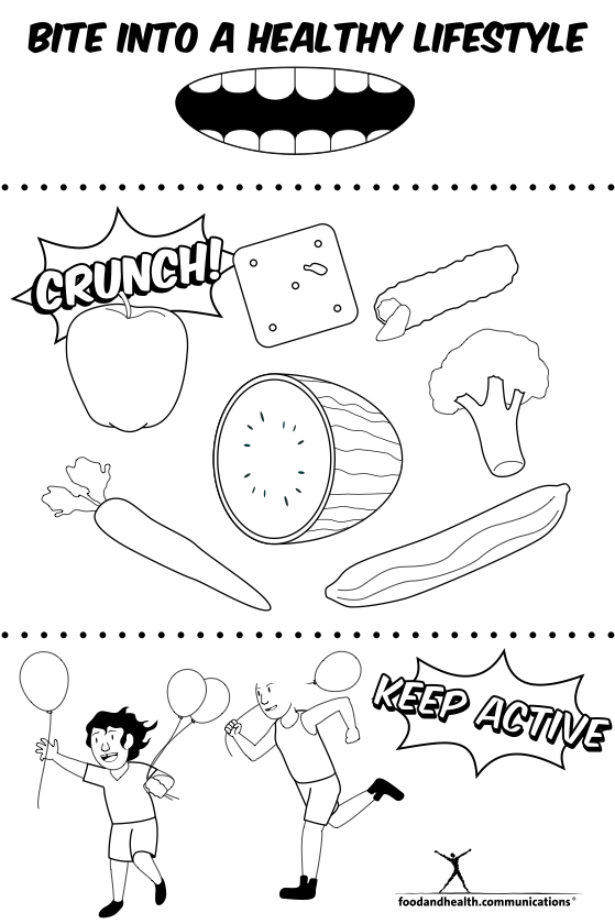 Reader Request: Nutrition Month Coloring Pages ...