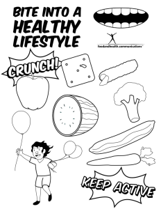 national nutrition month 2 - Nutrition Coloring Pages Kids