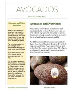 Avocado Handout