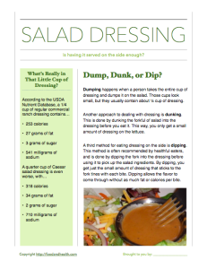 Salad Dressing Guide