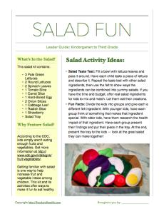 Salad Leader Guide