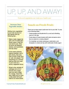 Fabulous Fruits and Vegetables Handout
