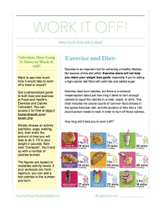 Work It Off Handout