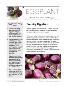 Eggplant Handout