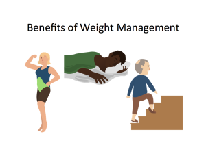 Benefits of Weight Management