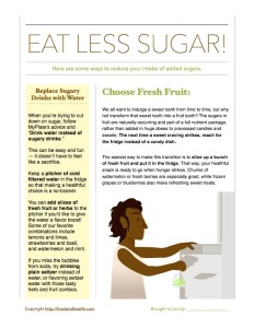Sugar Reduction Handout