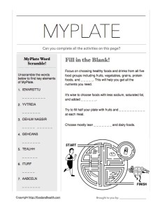MyPlate Activity Page