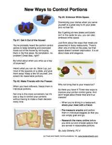 New Portion Control Ideas