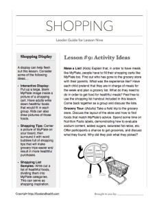 MyPlate Shopping Leader Guide