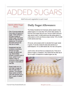 Free Added Sugars Handout