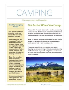Camping Handout