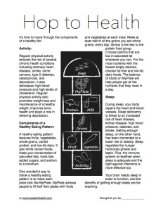 Health Hopscotch Handout