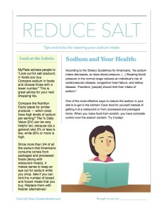 Sodium Reduction Handout