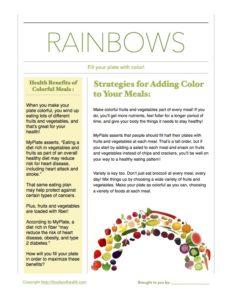 Rainbow Salad Floor Sticker Handout