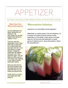 Watermelon Appetizer