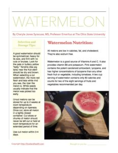 Watermelon Month