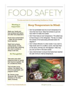 Food Safety Tipsheet