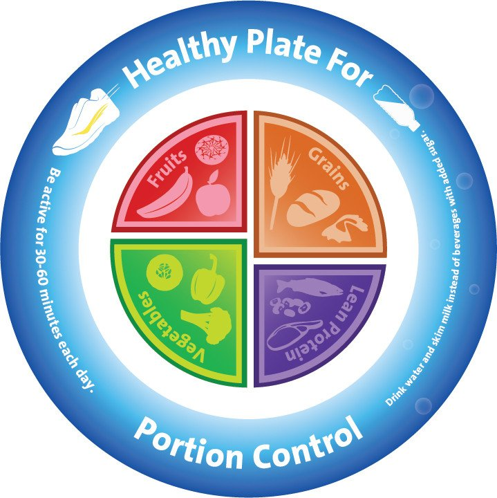 portion control plates portion activity ideas nutritioneducationstore 13085