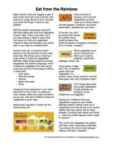 Rainbow Salad Handout