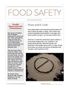 flour e coli